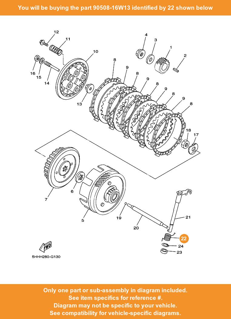 EBC Complete Clutch Rebuild Kit fits Yamaha TT-R125 TTR125 2000 to 2020