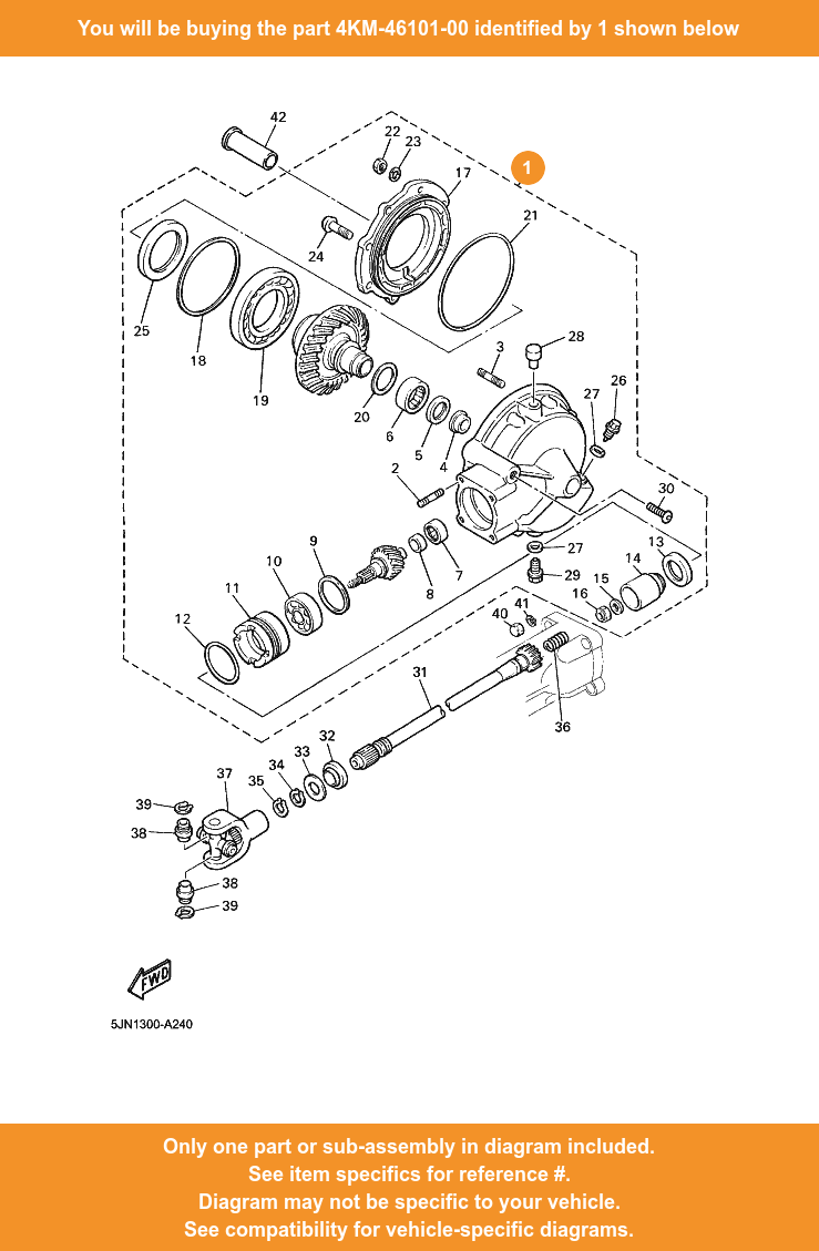 Details about YAMAHA Rear Axle Gear Case Assy, 4KM-46101-00 OEM BT1100  XJ900SDIVERSION