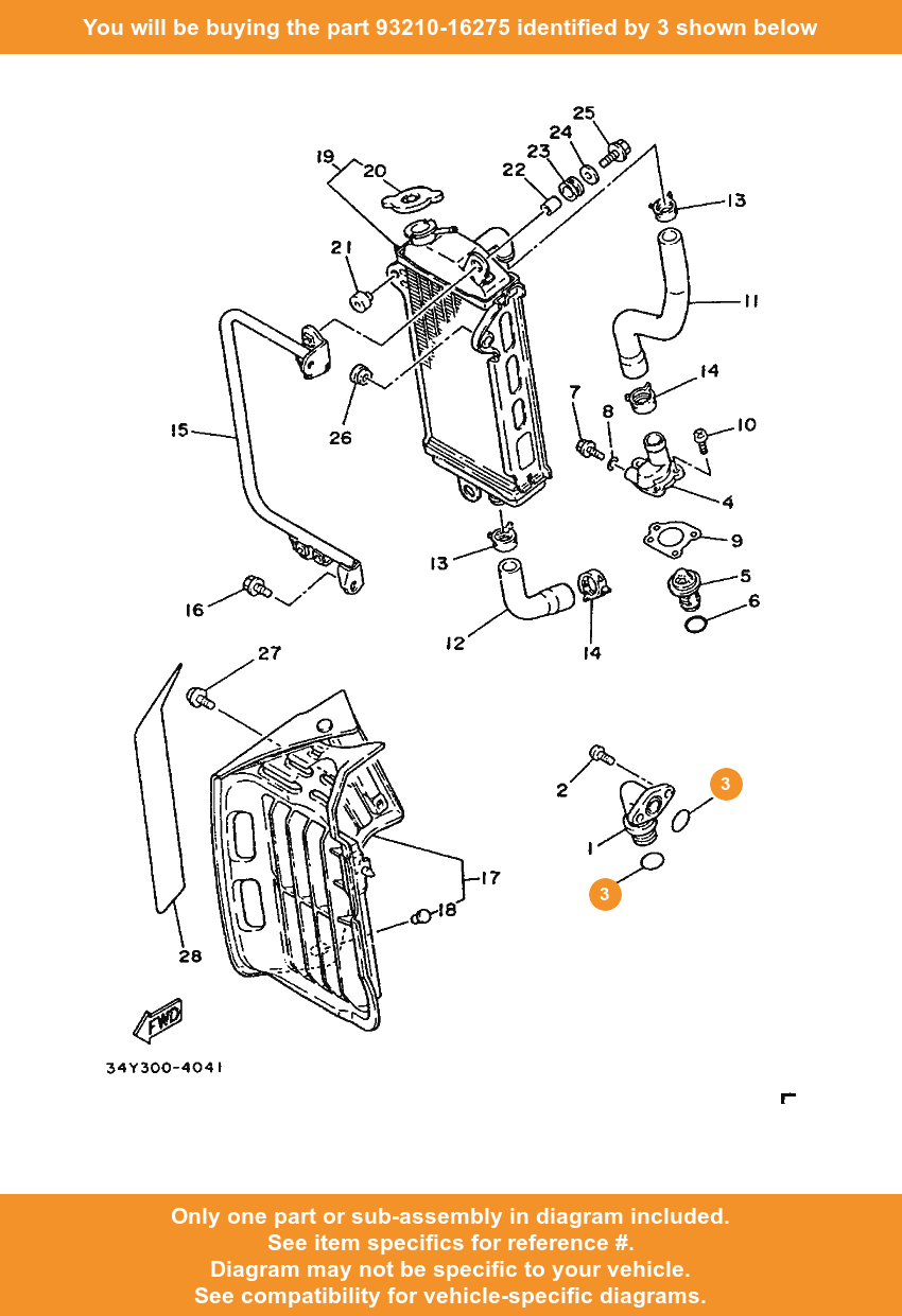 Yamaha O Ring 93210 16275 Fowlers Parts Oem Ebay Diagram Of Bicycle 3 On Only Compatible With Other Bikes