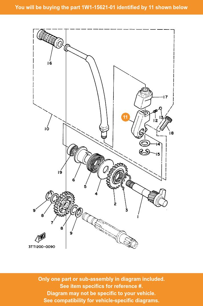 Yamaha Boss Kick Crank 1w1 15621 01 Fowlers Parts Oem Ebay