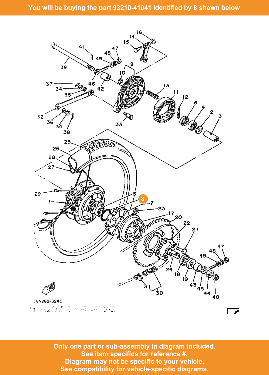 Yamaha O Ring 93210 41041 Fowlers Parts Oem Ebay Diagram Of Bicycle 8 On Only Compatible With Other Bikes
