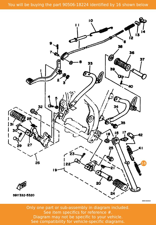 Yamaha Spring Tension 905-06044-21-00 New Oem